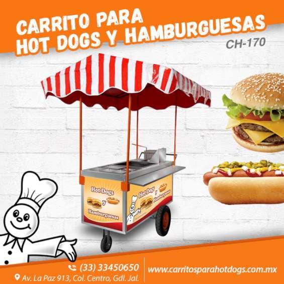 Incrementa tus negocio con carros de hot-dog y hamburguesas