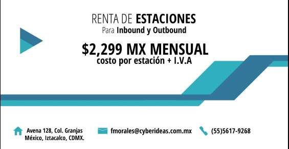 Renta de estaciones para inbound y outbound