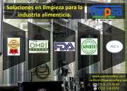 Limpieza en productoras de alimentos en Toluca 2000
