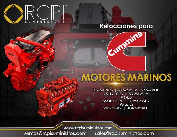 Refacciones para motores marinos cummins