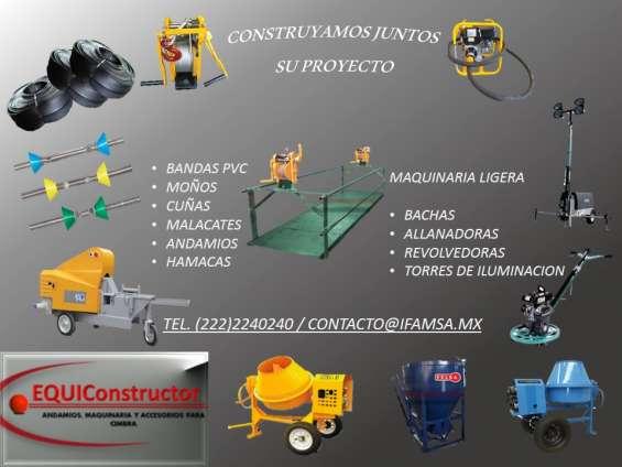 Equiconstructor somos fabricantes de andamios, cuñas y moños/tirantes para cimbra., distri