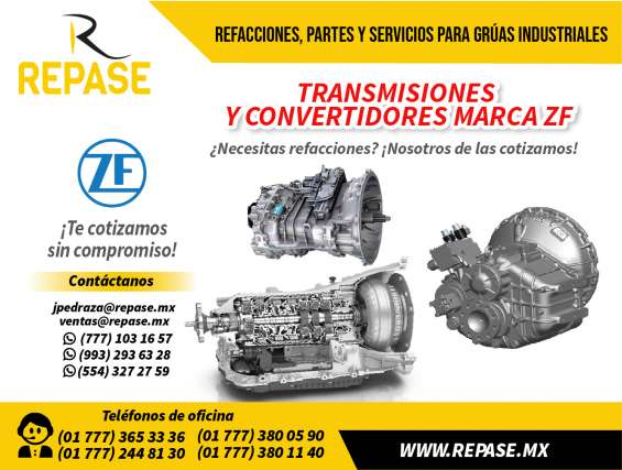 Transmisiones y convertidores zf