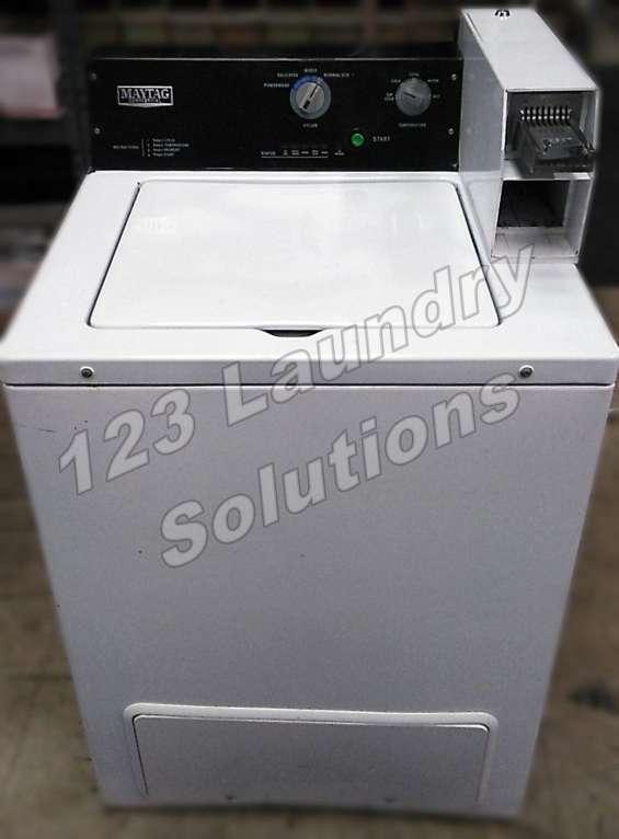 Lavadora de carga comercial cuperior maytag 120v 60hz 8.0amp usada