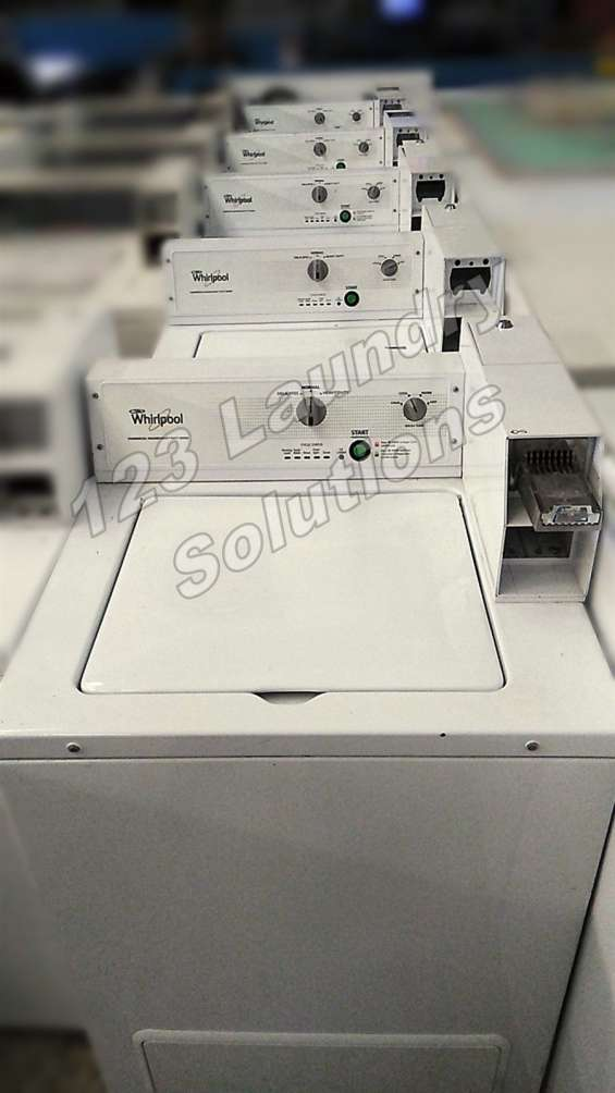 Lavadora de carga comercial superior whirlpool cae2763bq0 usada