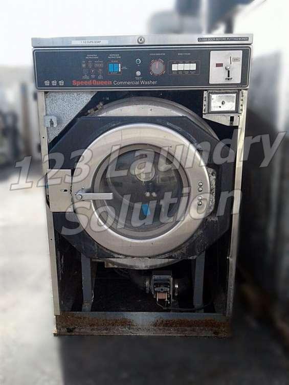Speed queen lavadora de carga frontal 30lb 1ph sc30md2 as-is usada