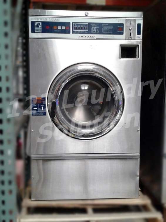 Dexter lavadora de carga frontal doble carga t300 wcn18abss usada