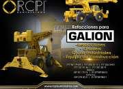 Refacciones para equipos Galion