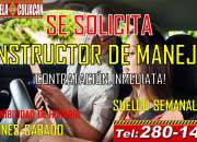 Estamos contratando instructores de manejo