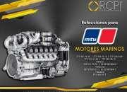Refacciones para motores marinos MTU
