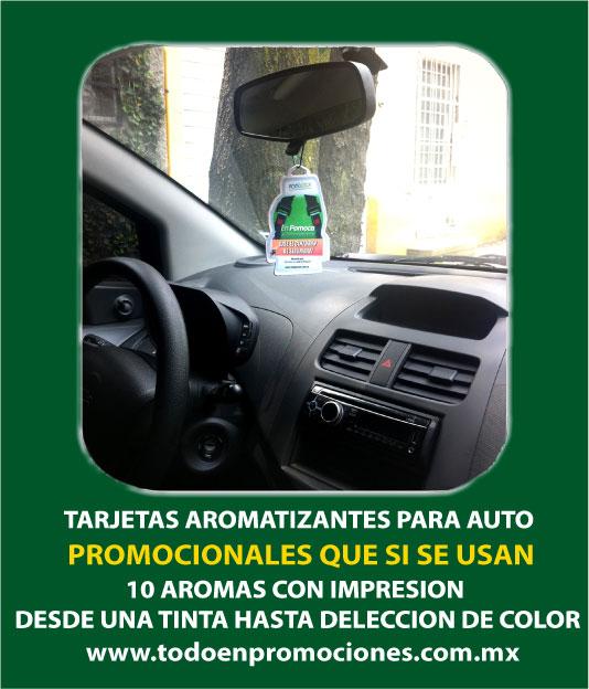 Tarjetas aromatizantes promocionales para auto