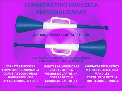 Cornetas publicitarias tipo vuvuzela