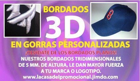 Gorras promocionales bordadas en 3d