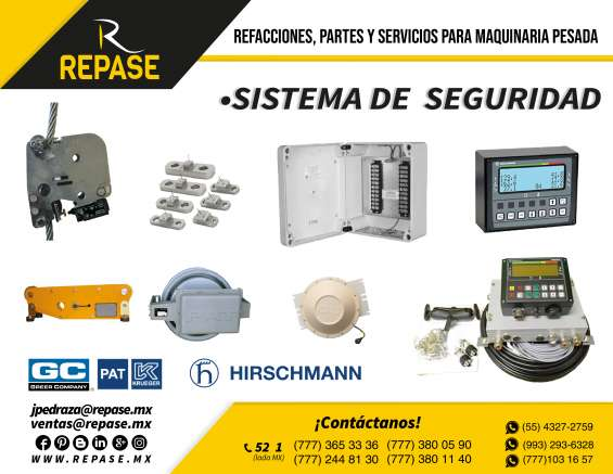 Sistemas de seguridad para grúas industriales y maquinaria pesada