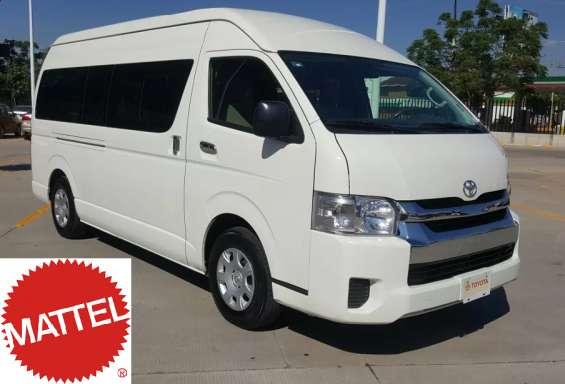 Toyota hiace pasajeros vehículo remate