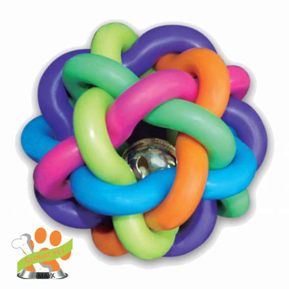 Sdv-02 juguete para perro 2 pelotas trenzadas 6.35cm