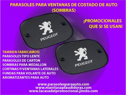 Parasoles personalizados para autos