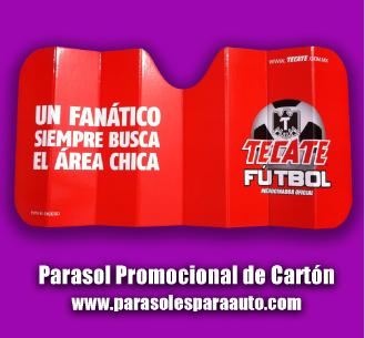 Parasoles publicitarios de carton para autos