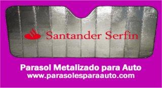 Parasoles promocionales metalizados para autos