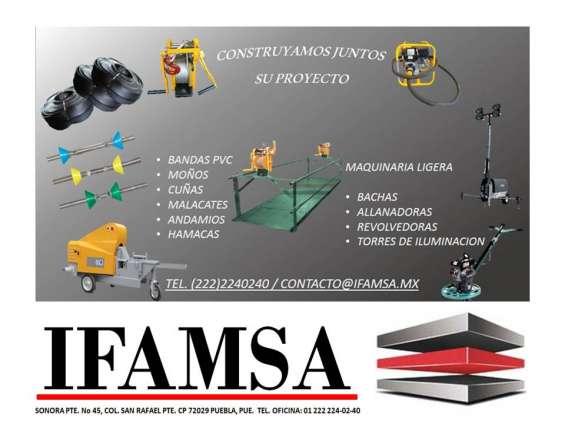 Grupo ifamsa somos fabricantes de andamios, cuñas y moños/tirantes para cimbra., distri