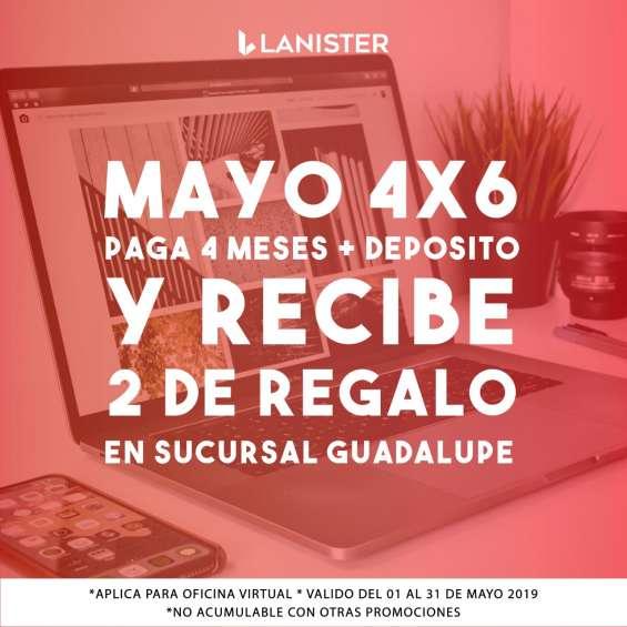Promoción de 4x6 solo mayo en renta de oficinas virtuales en av. guadalupe