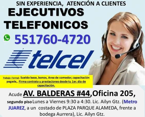 Atencion a clientes operador telefonico de lunes a viernes