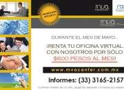 TENEMOS EN EL MES DE MAYO LAS OFICINAS VIRTUALES $600
