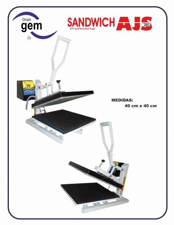 Plancha manual 40 cm x 40 cm transfer