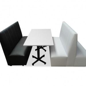 Fotos de Booths dobles y sencillos sillones para restaurantes y cafeterías 2