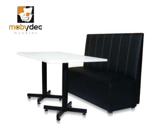 Booths dobles y sencillos sillones para restaurantes y cafeterías