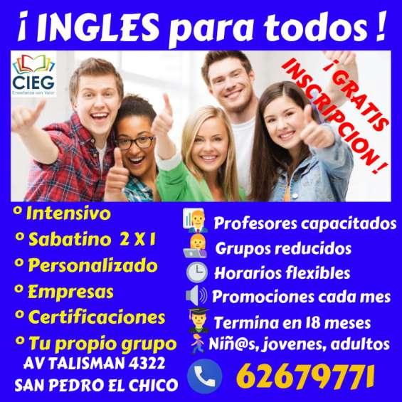 Ingles ¡ sin inscripción !