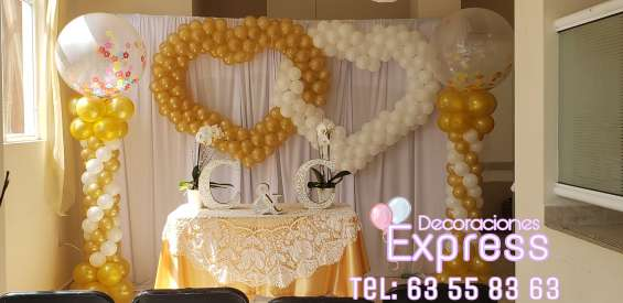 Globos, telas y las mejores decoraciones para xv años, bodas
