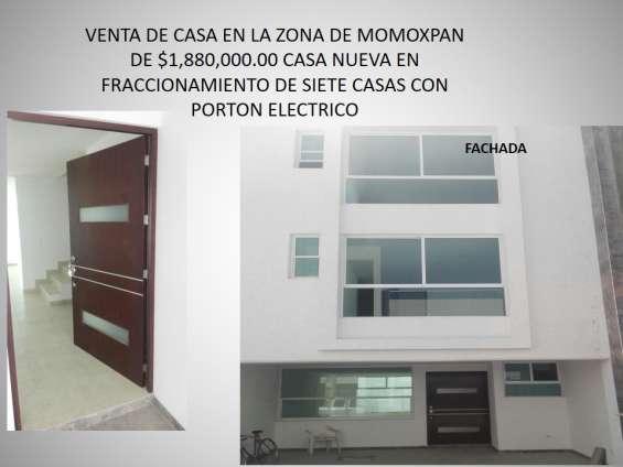Casa en venta en momoxpan