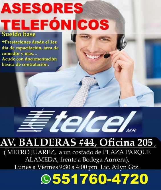Trabajo como operador telefonico (telcel) medio tiempo