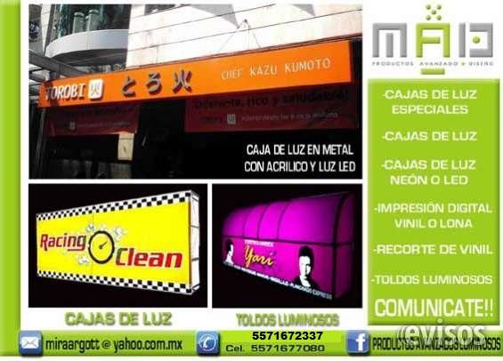 Letras 3d anuncios luminosos cajas de luz impresion digital