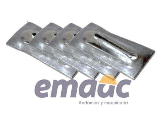 Cuña metalica para separador de cimbra