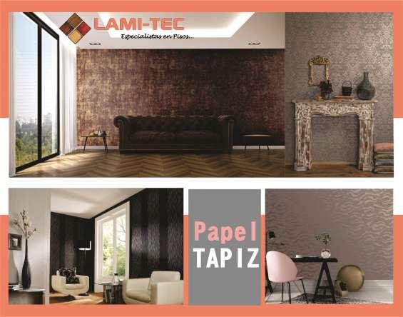 Papel tapiz, piso laminado, persianas y mucho mas