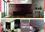 Piso laminado, persianas, papel tapiz, follaje LAMI-TEC