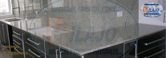 Oferta!! cubierta para cocina en granito natural gris claro $1480 ml