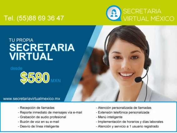 Secretaria virtual desde $ 580 pesos mensuales