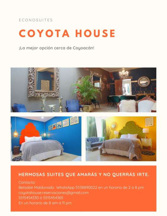 Casa coyota, hermosas suites