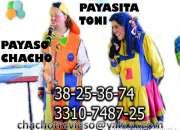 PAYASOS GUADALAJARA CHACHO Y LA PAYASITA TONI